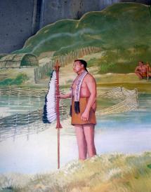 The Massachusett Sagamore, Chickataubut, by Joshua Winer